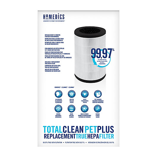 Alternate image 1 for HoMedics® TotalClean® PetPlus True HEPA Filter Replacements in White
