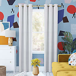 Sun Zero® Harper Bright Vibes Total Blackout 96-Inch Curtain Panel in White (Single)