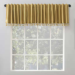 Sun Zero Evelina Faux Dupioni Total Blackout Back Tab Window Curtain Valance