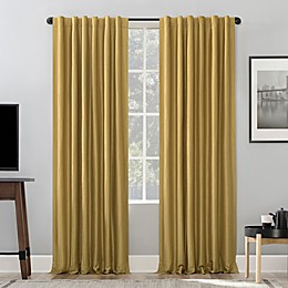 Sun Zero™ Evelina Back Tab Extreme Blackout™ Thermal Window Curtain Panel in Gold