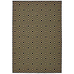Cabana Bay Mariner Dabbs Indoor/Outdoor Rug in Black