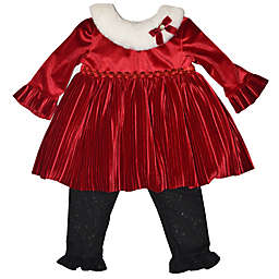 Blueberi Boulevard Size 6-9M Dressy Legging Set in Red