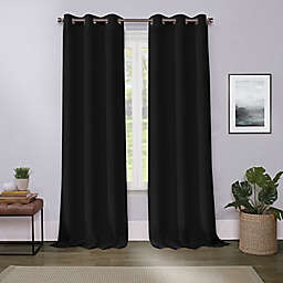 Cameron 63-Inch Grommet Room Darkening Window Curtain Panel in Black