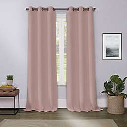 Cameron Blackout 63-Inch Grommet Window Curtain Panel in Blush