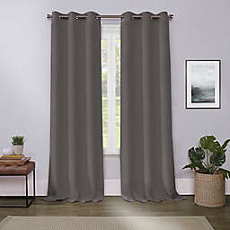 Cameron 84-Inch Grommet Room Darkening Window Curtain Panel in Charcoal