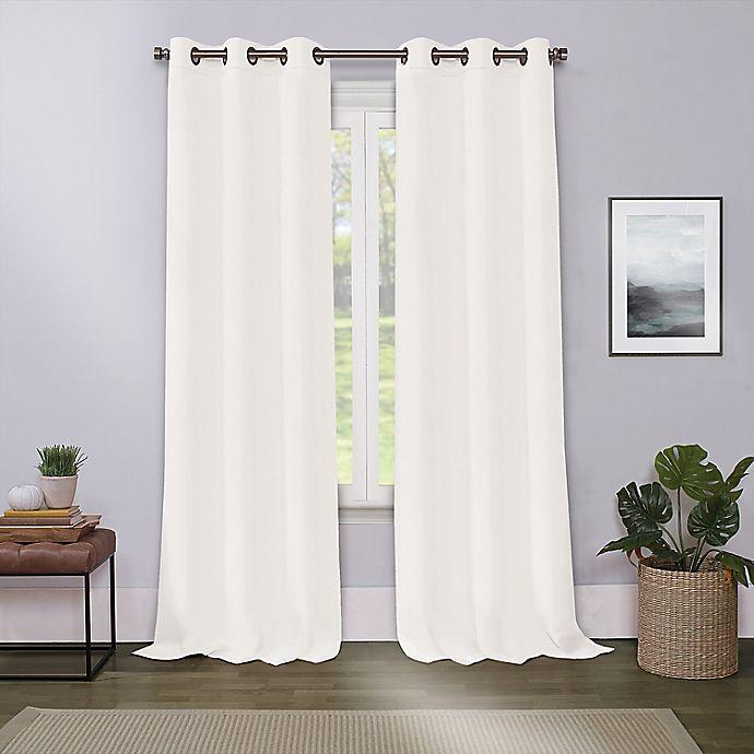 Alternate image 1 for Cameron 63-Inch Grommet Room Darkening Window Curtain Panel in Ivory