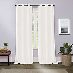 Cameron 63-Inch Grommet Room Darkening Window Curtain Panel in Ivory