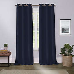 Cameron 63-Inch Grommet Room Darkening Window Curtain Panel in Navy