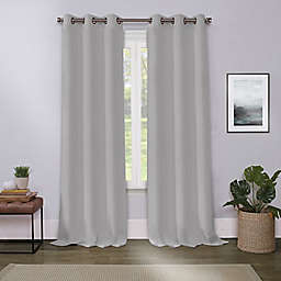 Cameron 84-Inch Grommet Room Darkening Window Curtain Panel in Silver