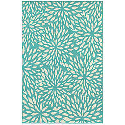 Cabana Bay Masons Heather Indoor/Outdoor Rug in Blue