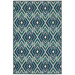 Cabana Bay Masons Quannah 7'10 x 10'10 Indoor/Outdoor Area Rug in Navy