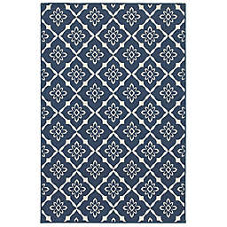 Cabana Bay Masons Racket Indoor/Outdoor Rug in Navy