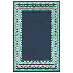 Cabana Bay Masons Newton 7'10 x 10'10 Indoor/Outdoor Area Rug in Navy