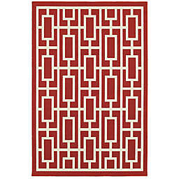 """Cabana Bay Masons Griffith 7'10"""" x 10'10"""" Indoor/Outdoor Area Rug in Red"""