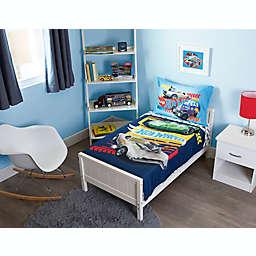 Hot Wheels® 4-Piece Toddler Bedding Set in Blue