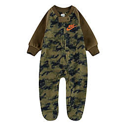 Nike® Size 3M Camo Microfleece Footed Coverall in Green