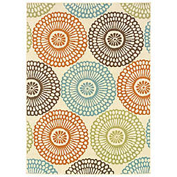 Cabana Bay Maxon Gannon Indoor/Outdoor Rug in Beige