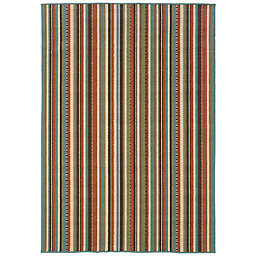 Cabana Bay Maxon Hackney Indoor/Outdoor Rug in Green
