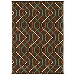 Cabana Bay Maxon Myrtle Indoor/Outdoor Rug in Brown