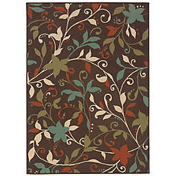 Cabana Bay Maxon Radley Indoor/Outdoor Rug in Brown