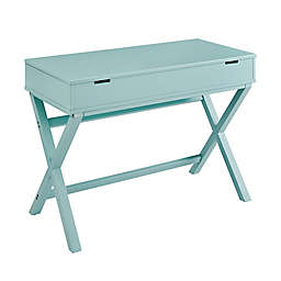 Peggy Lift-Top Desk in Turquoise