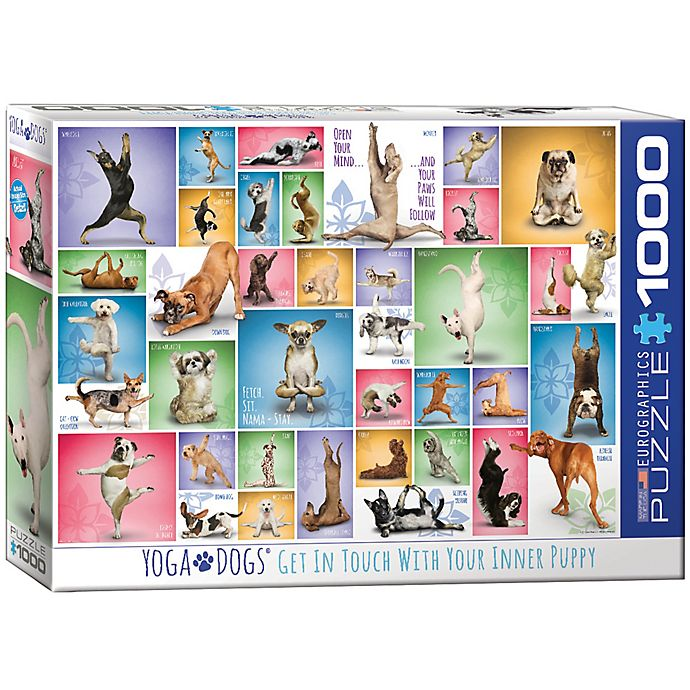 Alternate image 1 for Eurographics 1,000-Piece Yoga Dogs Puzzle
