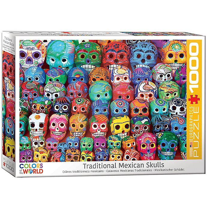 Alternate image 1 for Eurographics Traditional Mexican Skulls 1000-Piece Jigsaw Puzzle