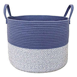 Taylor Madison Designs® 2-Tone Round Rope Basket in Blue/White