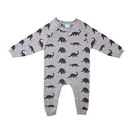 Bear Camp Size 12M Dino Sweater Romper in Grey