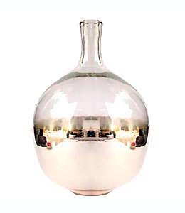 Florero de vidrio W Home acabdo metálico color oro claro