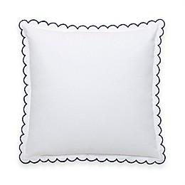 kate spade new york Scallop Row™ European Pillow Sham in White/Navy