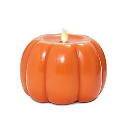 Luminara® Real-Flame Effect Pumpkin Candle in Orange