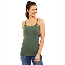 A Pea in the Pod Large Luxe Clip Down Nursing Cami in Olive