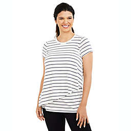 A Pea in the Pod X-Small Pull Over Drop Shoulder Nursing Tee in White