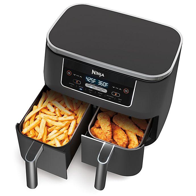 Alternate image 1 for Ninja® Foodi® 6-in-1 Two-Basket Air Fryer in Silver/Black