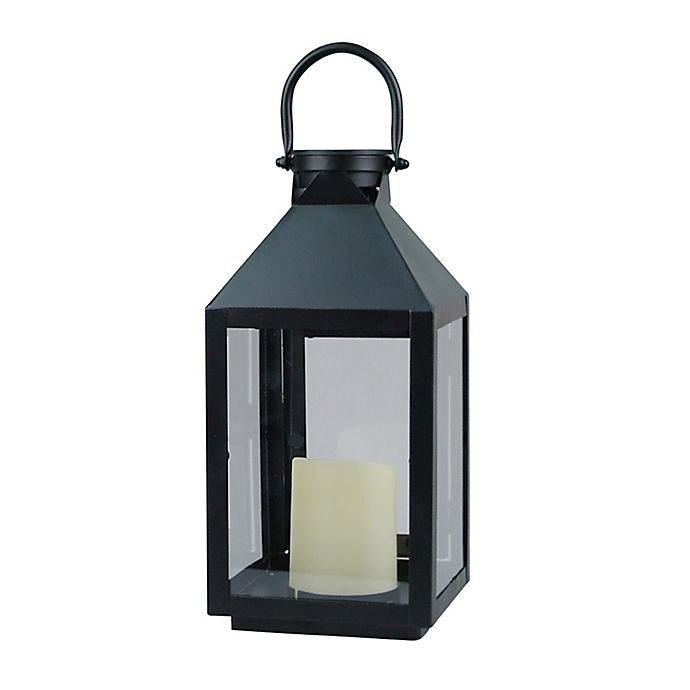 Alternate image 1 for W Home™ Solar Small Metal Lantern