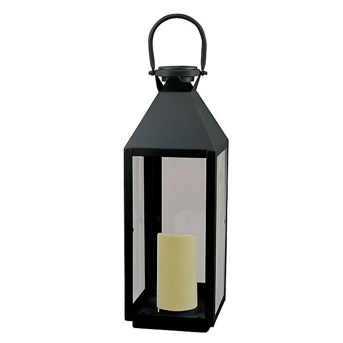 Alternate image 1 for W Home™ Solar Medium Metal Lantern