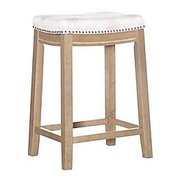 Linon Home Microfiber Upholstered Bar Stool