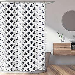 Sweet Jojo Designs® 72-Inch x 72-Inch Sailor Nautical Anchor Shower Curtain