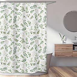 Sweet Jojo Designs® 72-Inch x 72-Inch Botanical Leaf Shower Curtain in Green/White