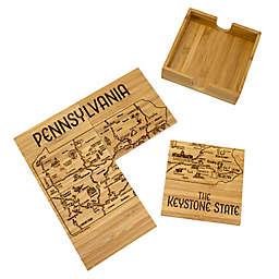 Totally Bamboo Pennsylvania Puzzle 5-Piece Coaster Set