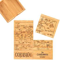 Totally Bamboo Colorado Puzzle 5-Piece Coaster Set