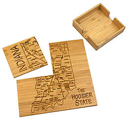 Totally Bamboo Indiana Puzzle 5-Piece Coaster Set