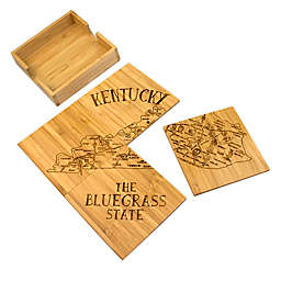 Totally Bamboo Kentucky Puzzle 5-Piece Coaster Set