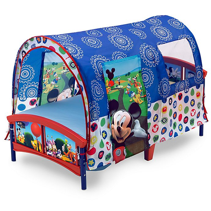 Alternate image 1 for Disney Mickey Mouse Toddler Bed in Blue by Delta Children