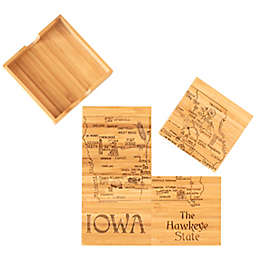 Totally Bamboo Iowa Puzzle 5-Piece Coaster Set