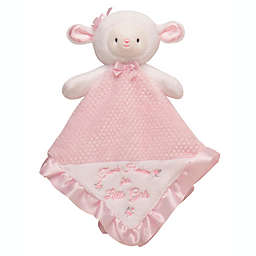 Little Me Lamb Plush Rattle Blanket in Pink