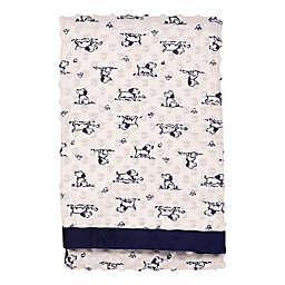 Little Me® Puppy Print Blanket in Blue