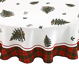 Spode® Christmas Tree Tartan 70-Inch Round Tablecloth