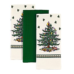 Spode® 3-Piece Christmas Tree Kitchen Towels Set